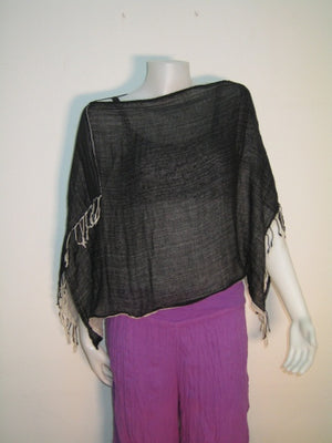 Short Gauze Poncho,Hats Wraps and Ponchos,[Easy Breezy Clothing]