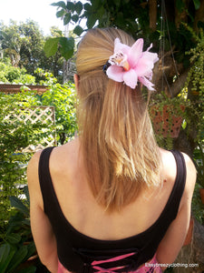Large Flower Hair Clip,Silk Hair Flowers,[Easy Breezy Clothing].