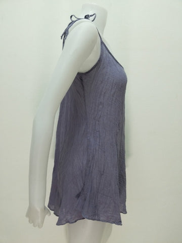 Tie String Tank Top,Cotton Sleeveless Tops,[Easy Breezy Clothing]