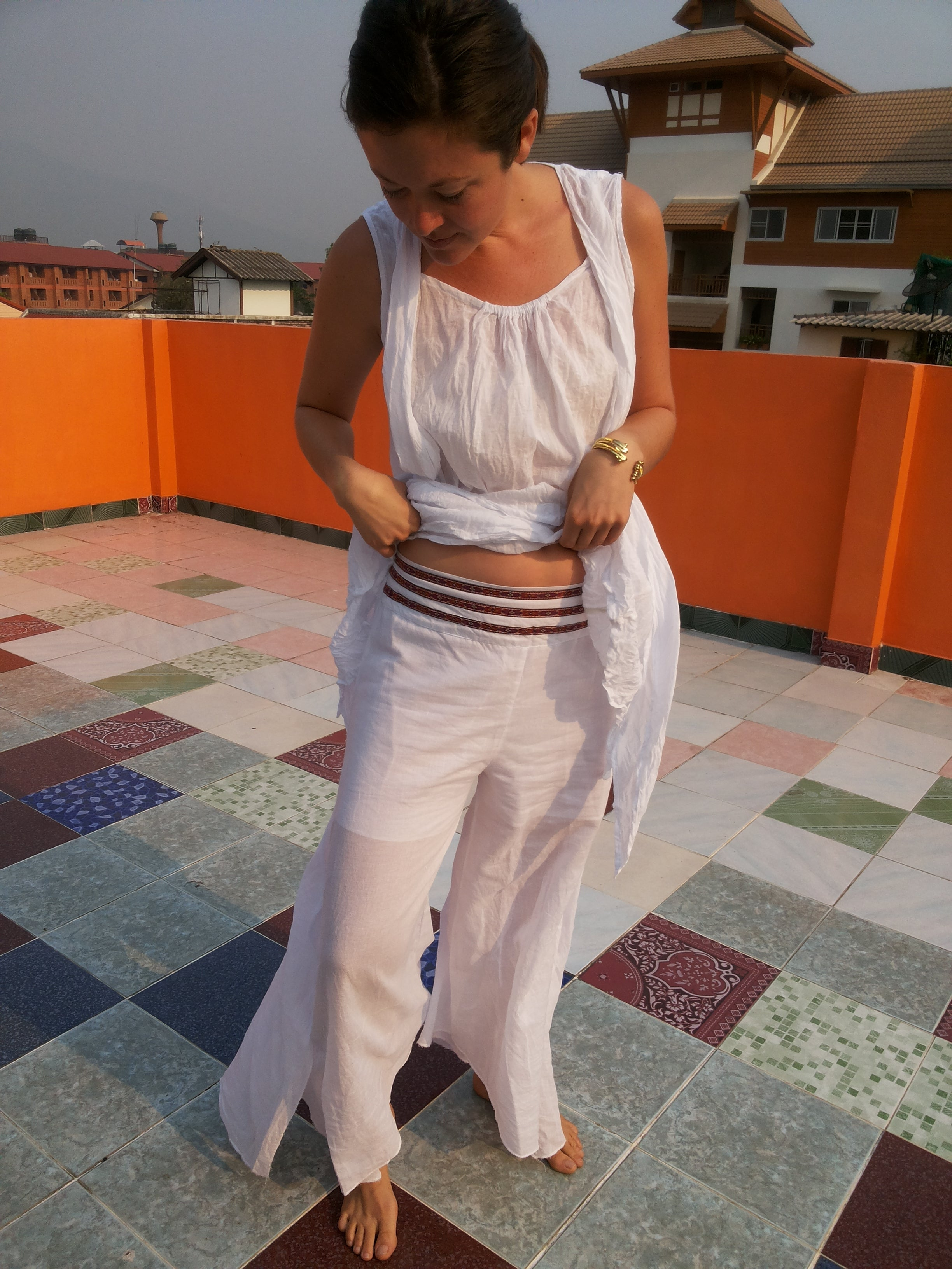 Wide Boho Pants,Cotton Pants and Skirts,[Easy Breezy Clothing]