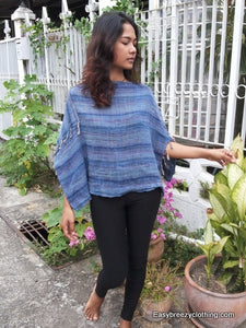 Loom Woven Cotton Poncho,Hats Wraps and Ponchos,[Easy Breezy Clothing]