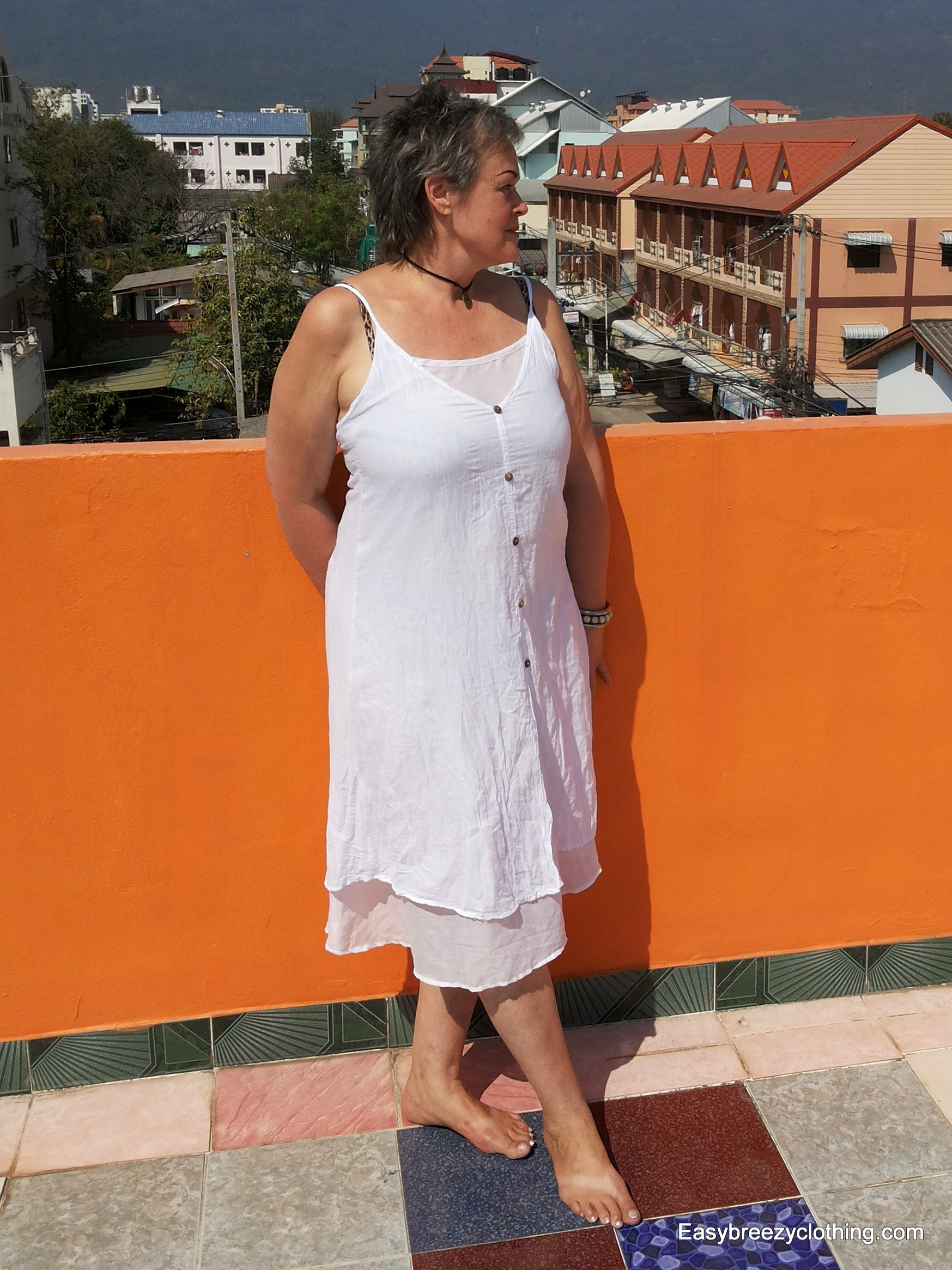 Cotton Midi Dress with Spaghetti Straps,Cotton Dresses,Easy Breezy Clothing,[Easy Breezy Clothing]