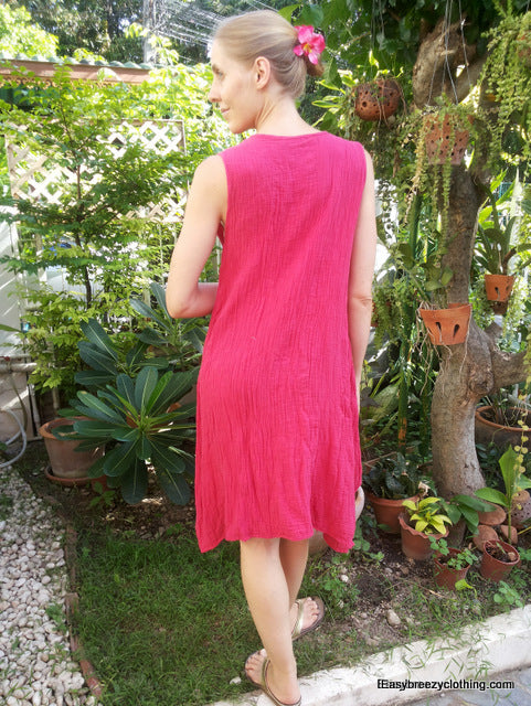 Double Gauze Sleeveless Dress,Double Gauze Dresses,[Easy Breezy Clothing]