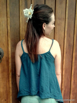 Summer Boho Top,Cotton Sleeveless Tops,[Easy Breezy Clothing]