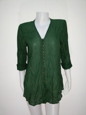 V-Neck Blouse,Cotton Blouses and Tunics,[Easy Breezy Clothing]