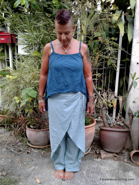 Wrap Pants,Cotton Pants and Skirts,[Easy Breezy Clothing]