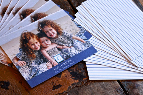 The holiday season comes around quickly each year, and it's never too late to stock up on unique holiday gifts for everyone on your list! Personalize photo cards, invitations, and stickers, too!