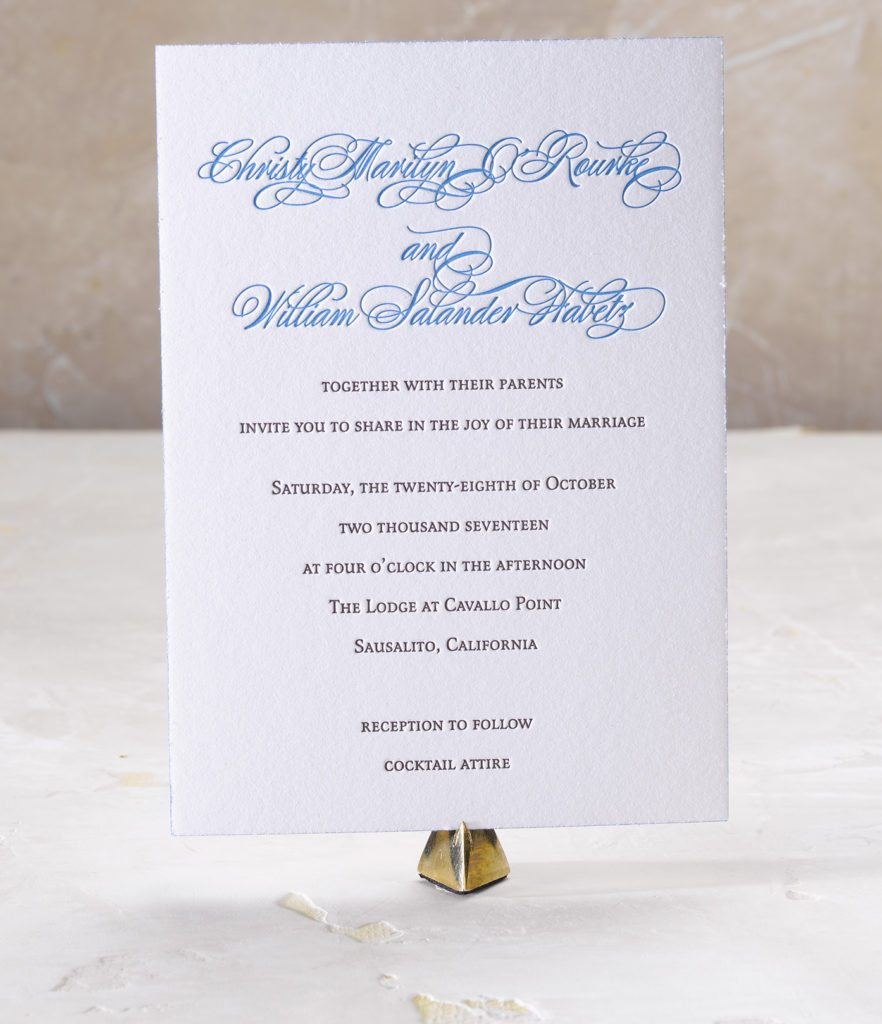 Christy & William is a letterpress wedding suite set wine country, California. Call us toll-free at 1-800-995-1549 or email us at hello@pickettspress.com