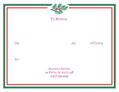 "Remind your friends, family, and loved ones about your next holiday event with these cute ""To Remind"" cards from Pickett's Press."