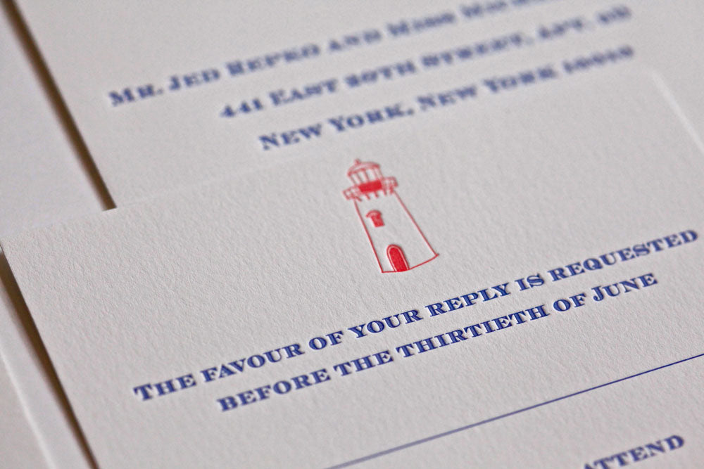 Michelle & Jed is a letterpress wedding suite set in Kennebunkport, ME. Would you like to be featured on #PPRealBride? Email us your photos to hello@pickettspress.com to be featured on our page! Shop here for more Pickett's Press wedding suites!