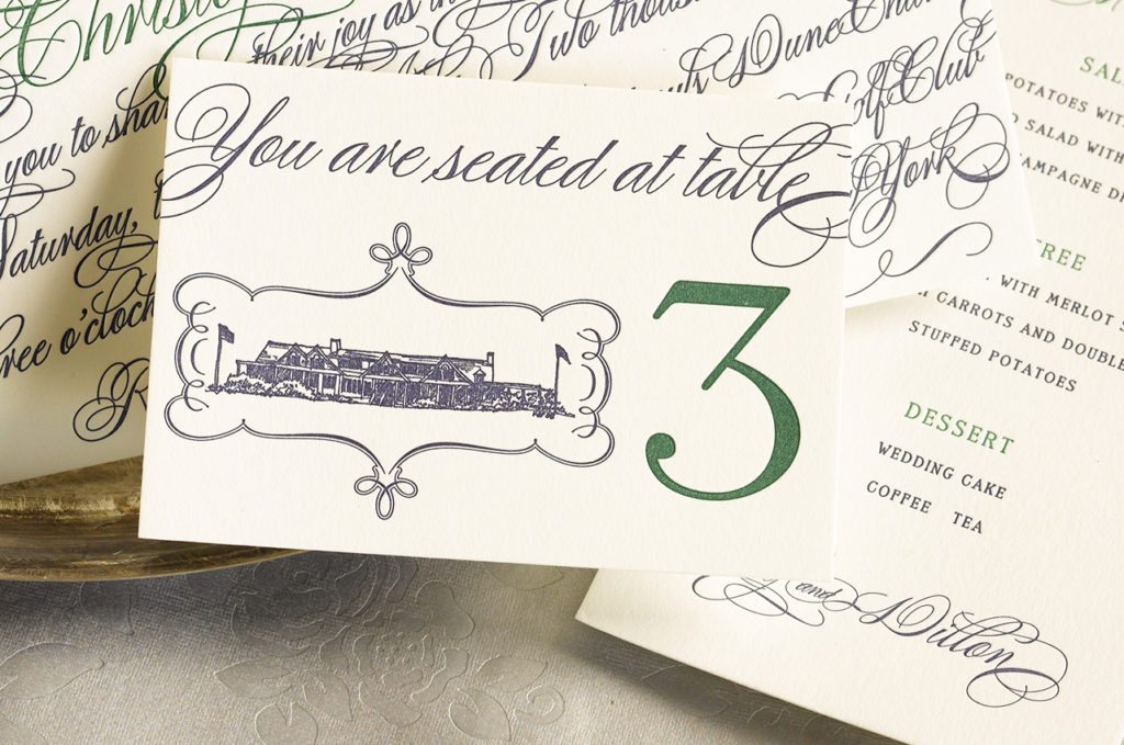 Lily & Dillon is a letterpress wedding suite set in Southampton, New York. Call us toll-free at 1-800-995-1549 or email us at hello@pickettspress.com