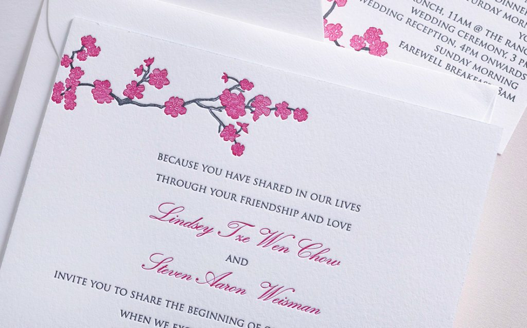 Lindsey & Steven is a letterpress wedding suite set in Calistoga, CA. Call us toll-free at 1-800-995-1549 or email us at hello@pickettspress.com