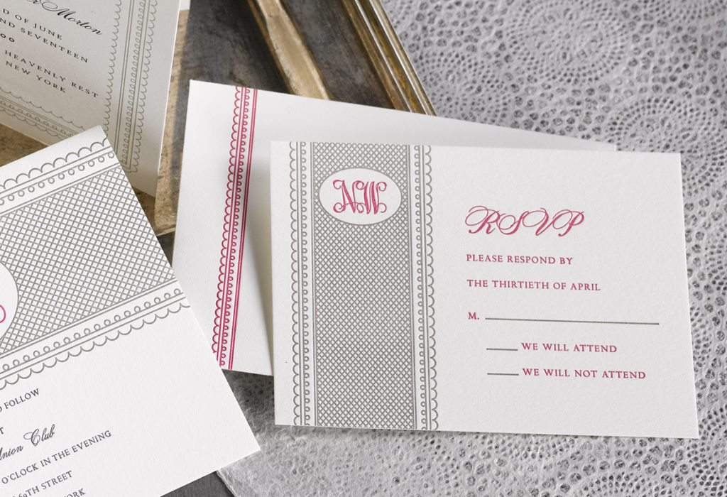 Nina & Willy is a letterpress wedding suite set in NYC. Call us toll-free at 1-800-995-1549 or email us at hello@pickettspress.com