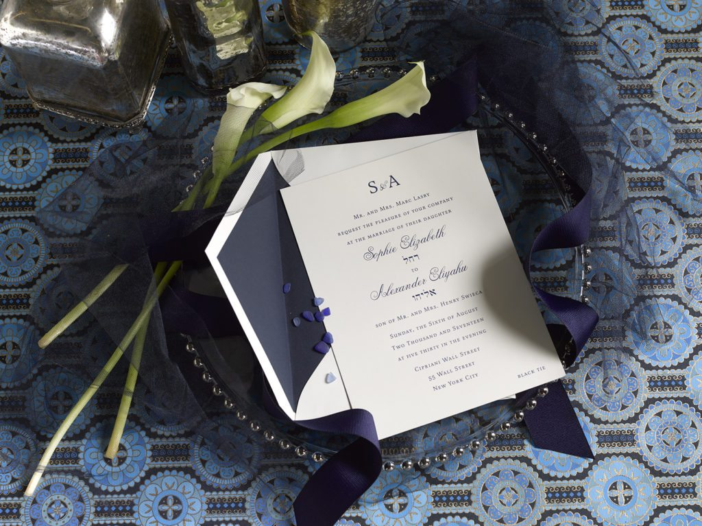 Sophie & Alexander is an engraved suite in navy blue, set in New York City. Call us toll-free at 1-800-995-1549 or email us at hello@pickettspress.com