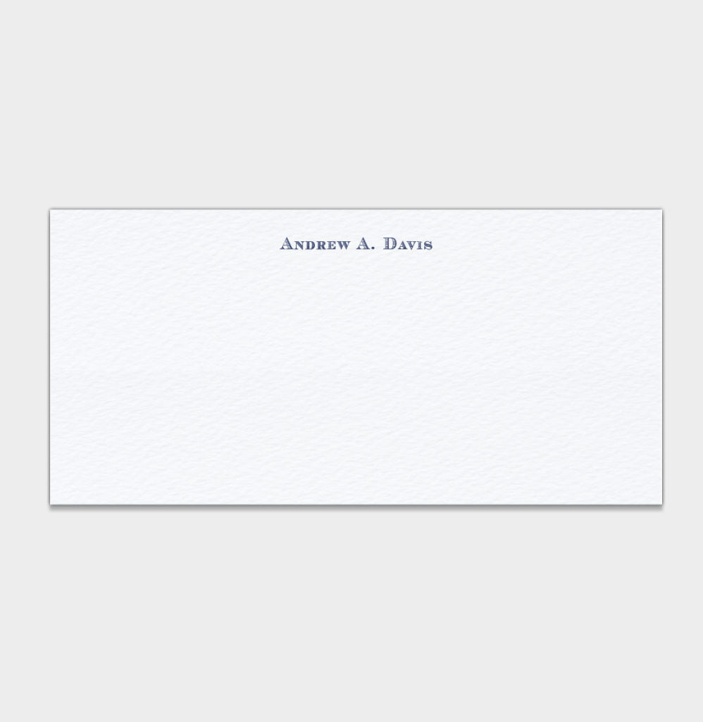Andrew A. Davis Stationery