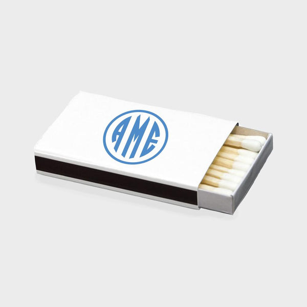 Blue Monogram Matchbox