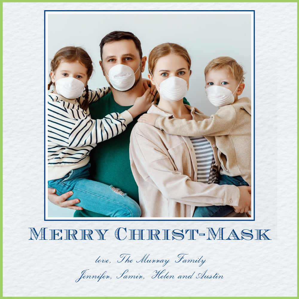 Christ-mask Holiday Card