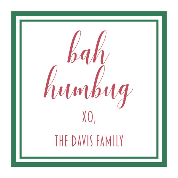 Bah Humbug Gift Stickers