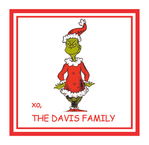 Grinch Gift Stickers