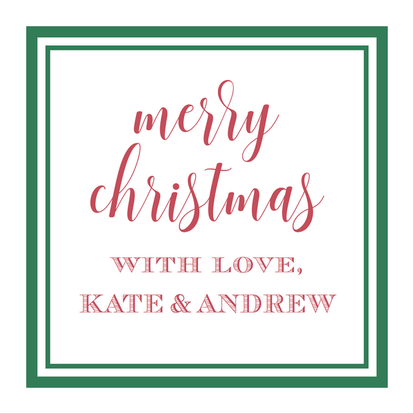 Christmas With Love Gift Stickers
