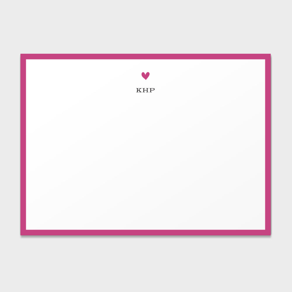 Heart Monogram Stationery