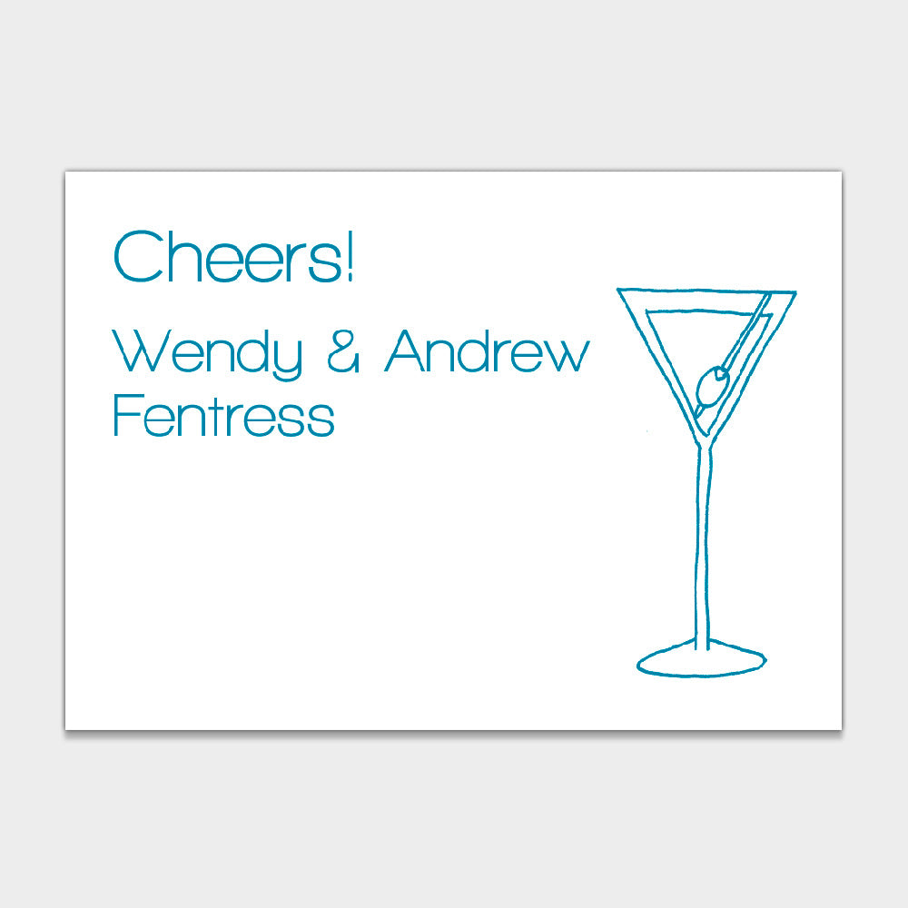 Martini Glass Enclosure Cards