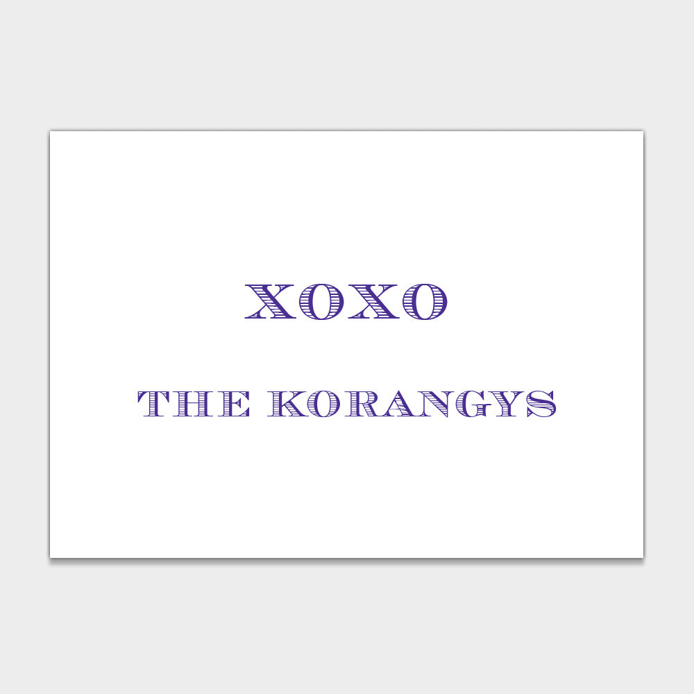 XOXO Enclosure Cards