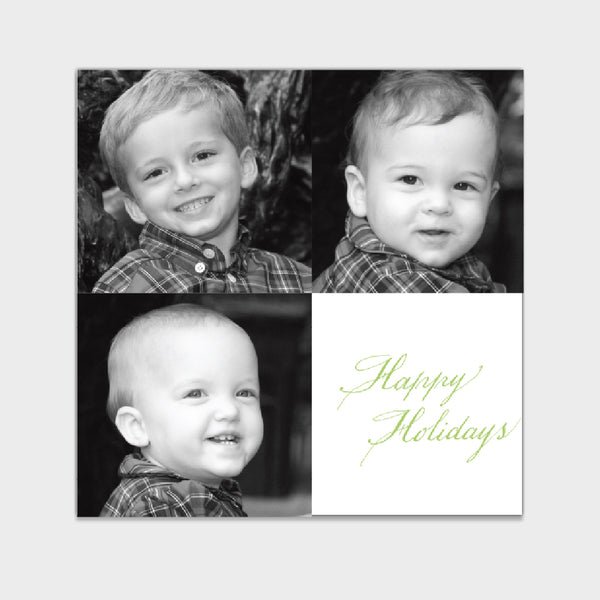 Triple Happy Holiday Card