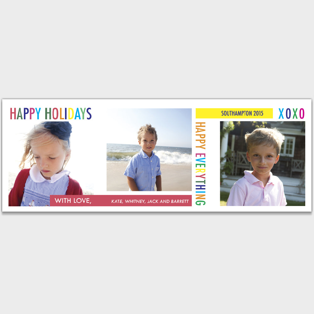 Trifold Holiday Card