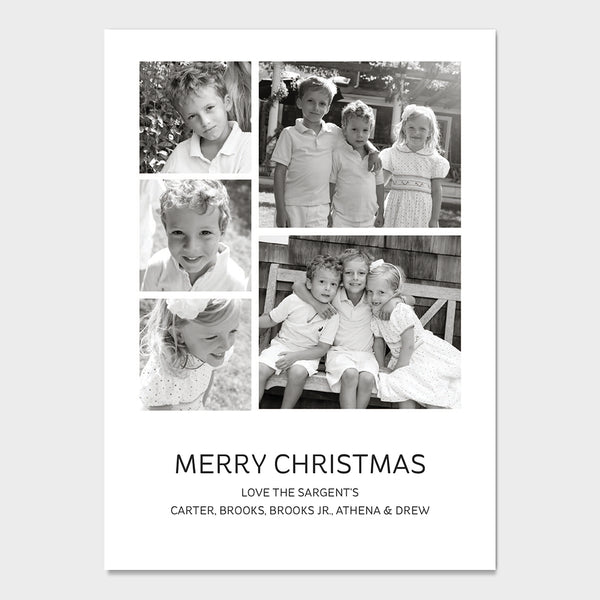 Simple B&W Holiday Card
