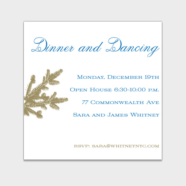 Blue Boughs Invitation