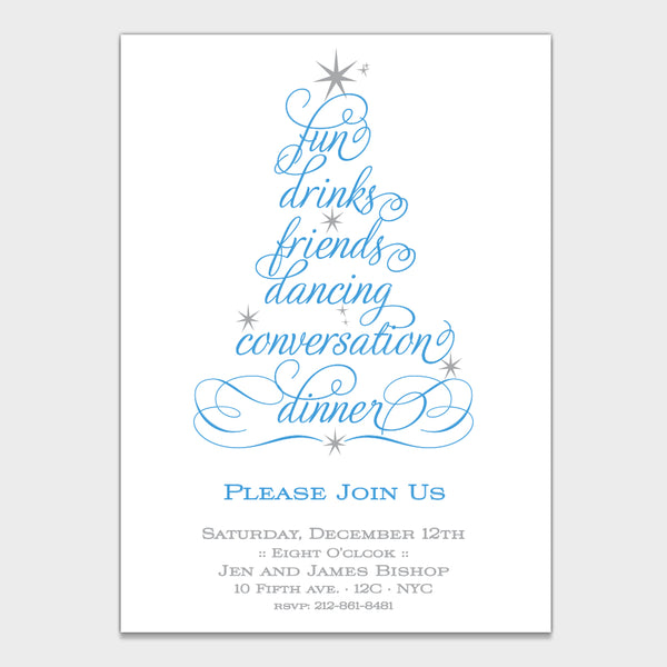 Calligraphy Tree Invitation