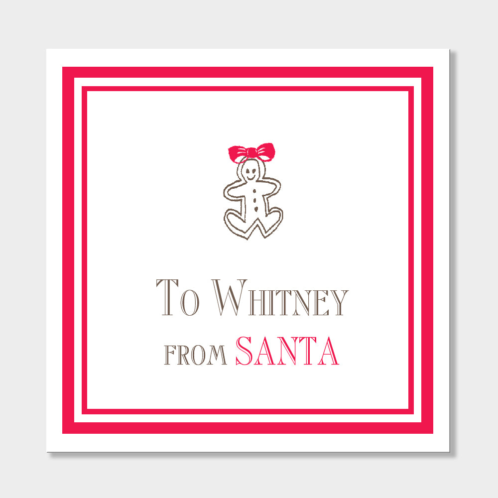 To Whitney Gift Stickers