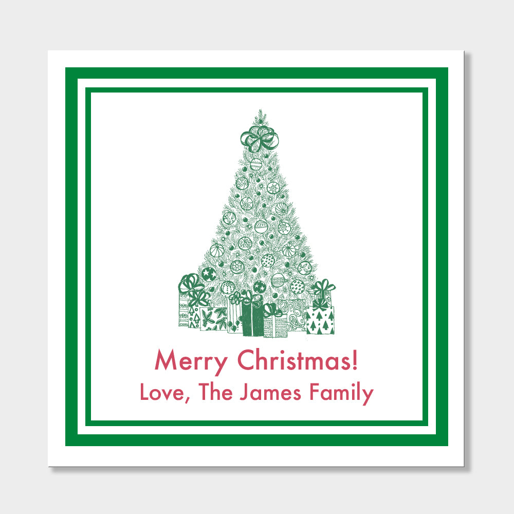 Christmas Tree Holiday Stickers