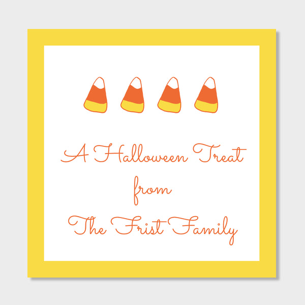 Candy Corn Gift Stickers