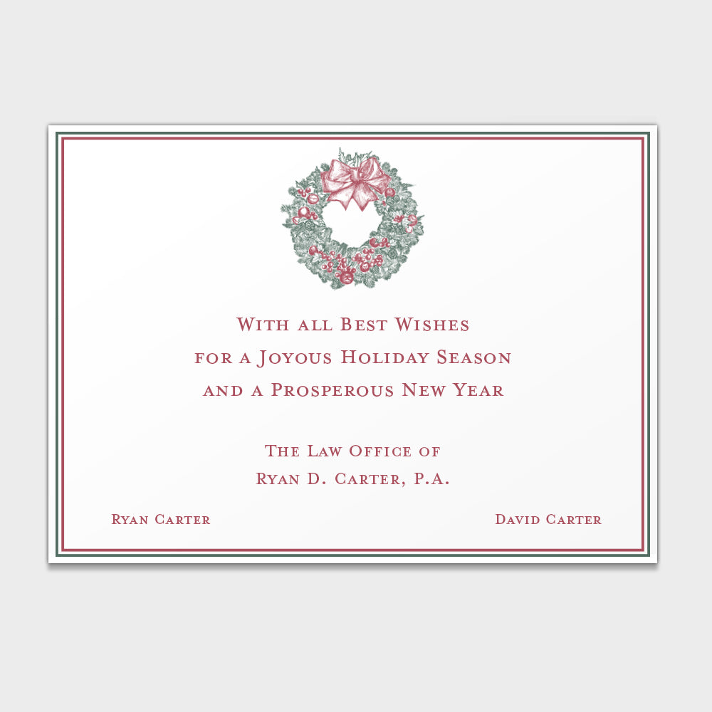 Wreath Corporate Holiday Card