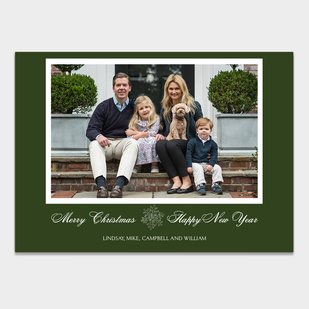 Hunter Green Christmas Card