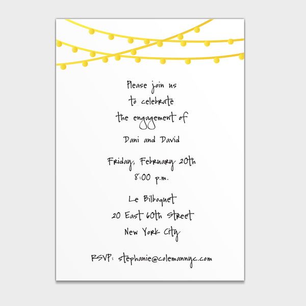Engagement Lights Invitation