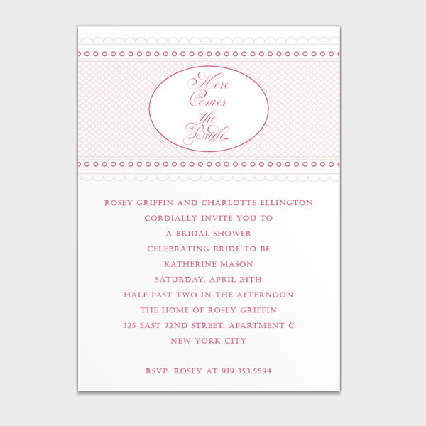 Bridal Shower Delicate Dots Invitation
