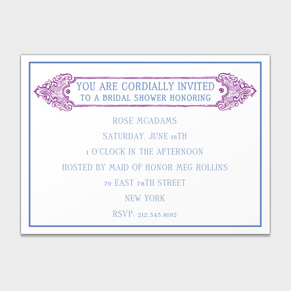 Bridal Shower Antique Invitation