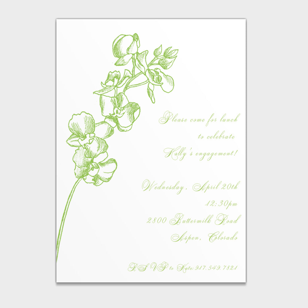 Bridal Shower Orchid Invitation