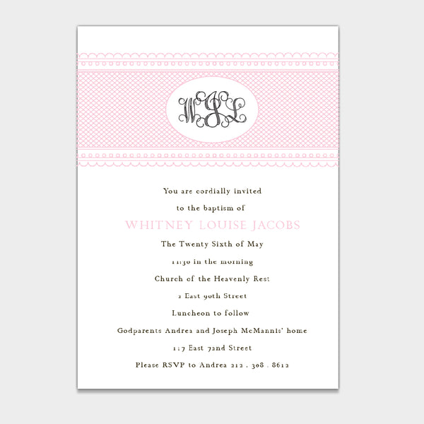 Baptism Rose Monogram