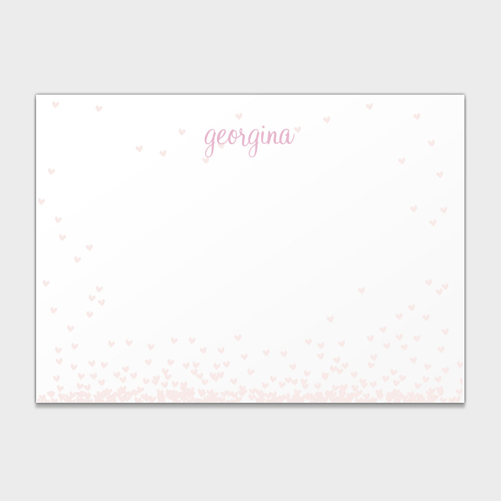 Falling Hearts Stationery