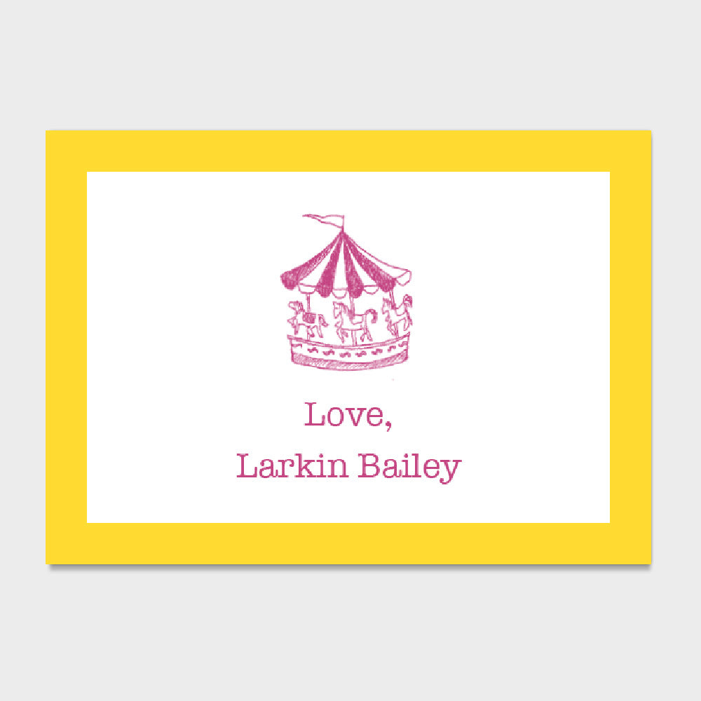 Carousel Enclosure Card