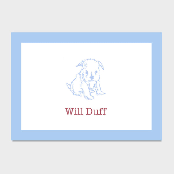 Duff Pup Enclosure Card