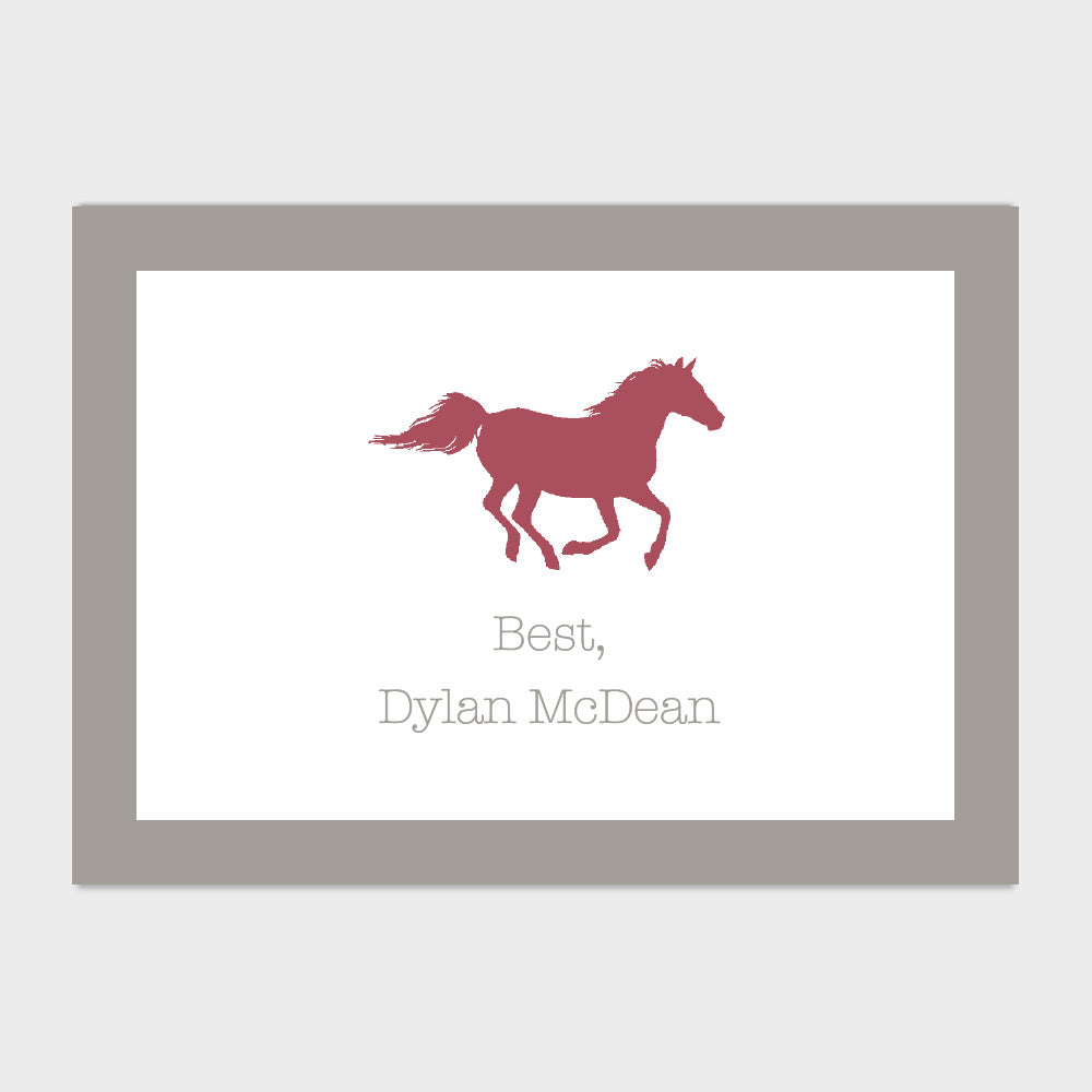 Horse Enclosure Card