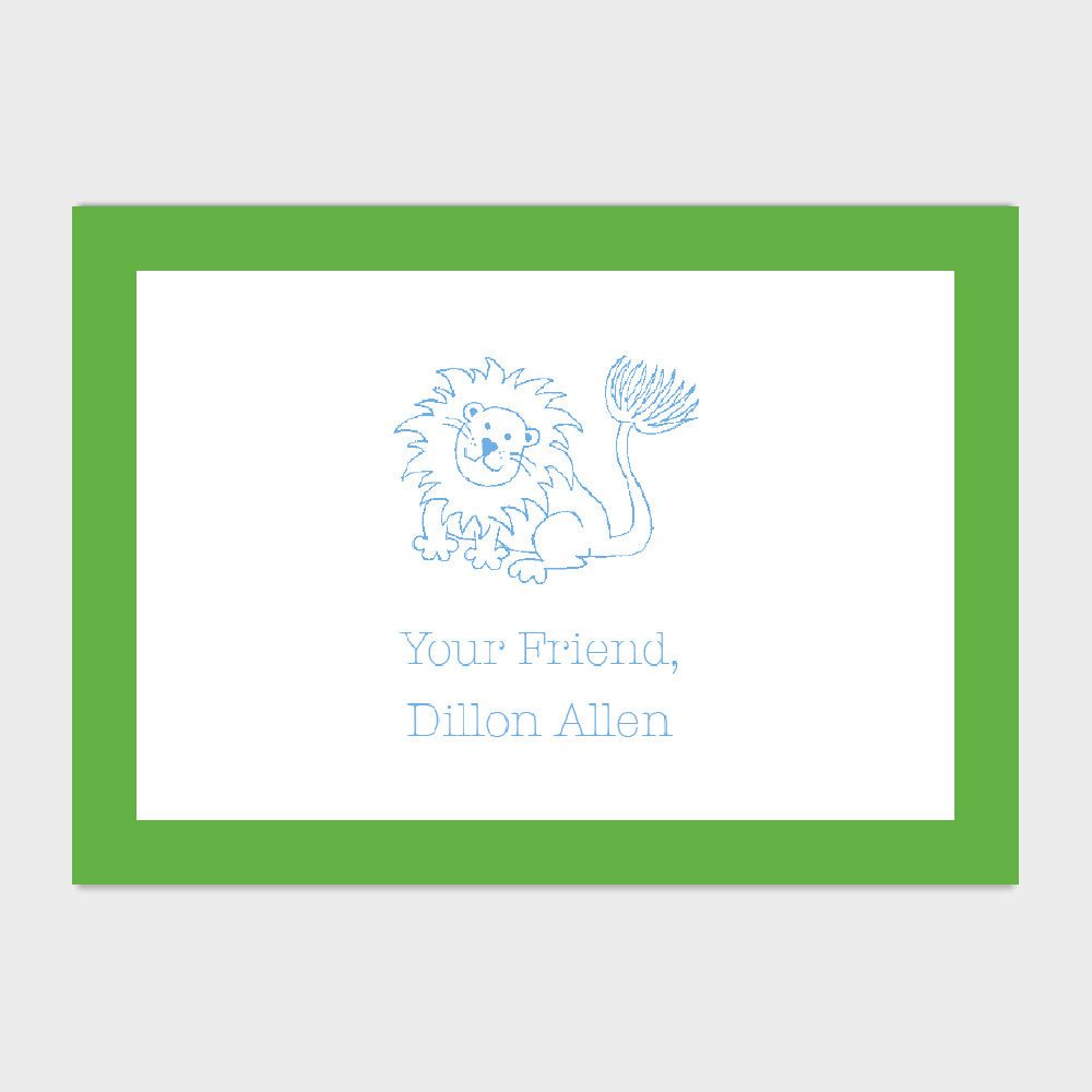 Lion Enclosure Card