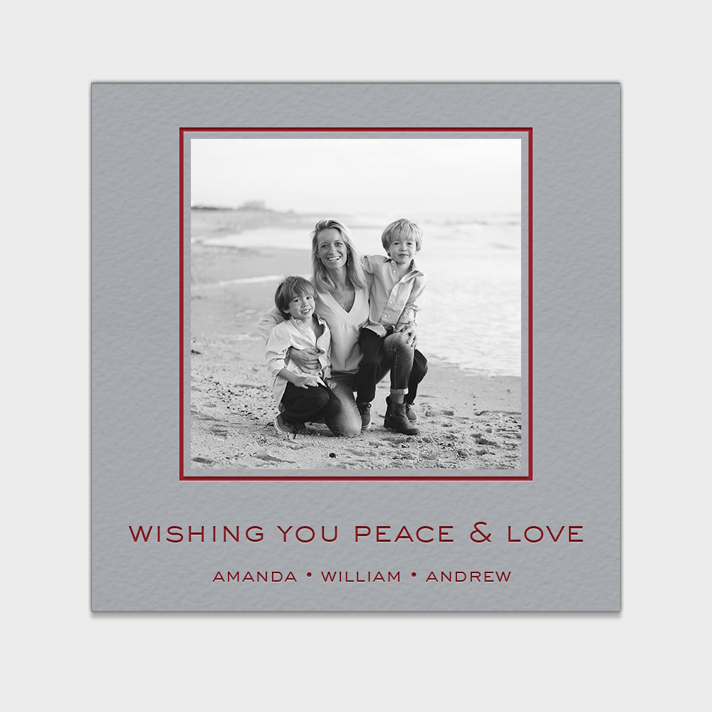 Peace & Love Holiday Card