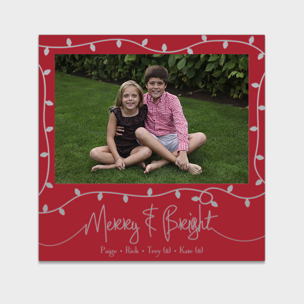 Silver Lights Holiday Card