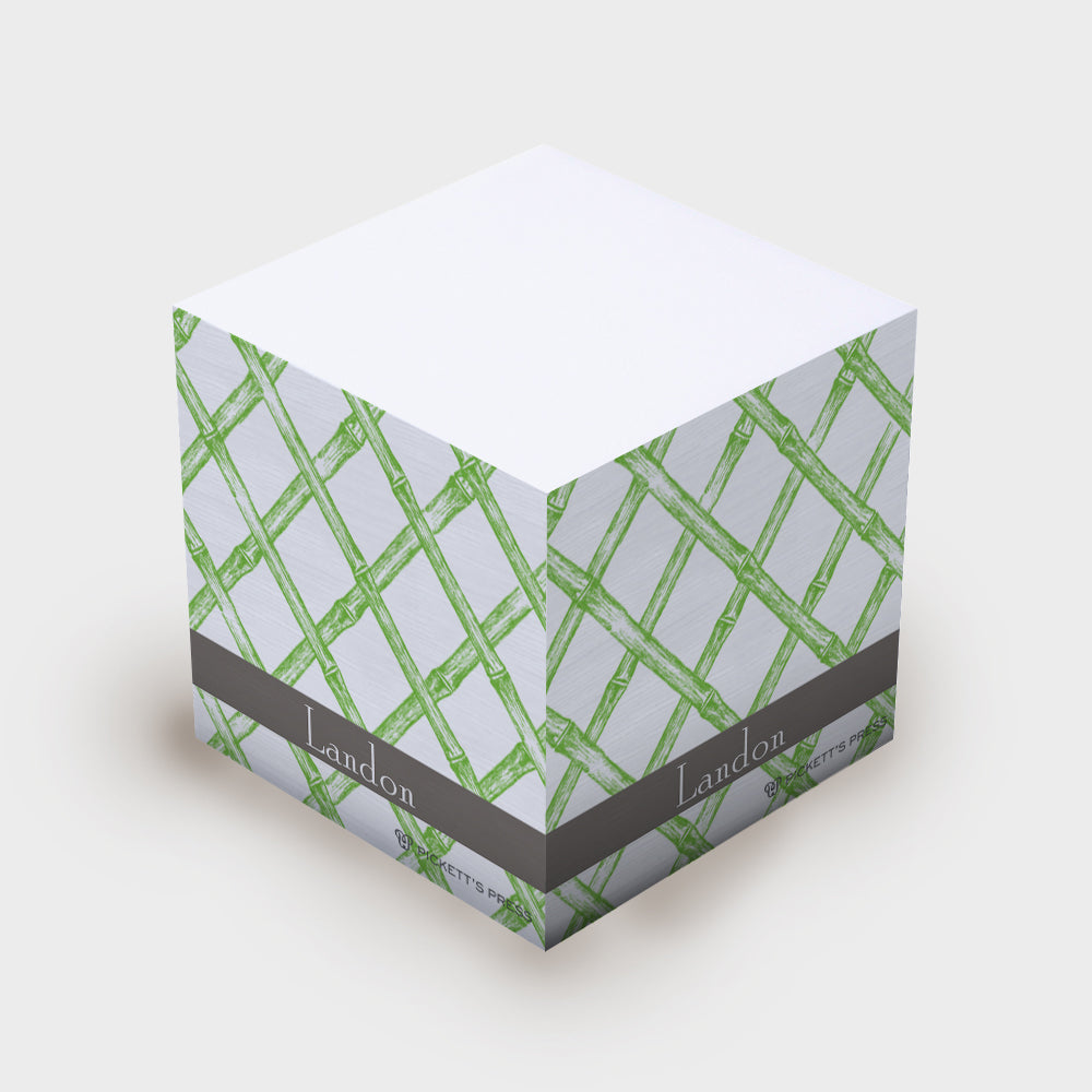 Green Bamboo Sticky Notes